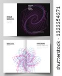 vector layout of two a4 format...   Shutterstock .eps vector #1323354371