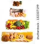 food pyramid | Shutterstock . vector #132337199