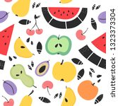 fruit seamless pattern. concept ... | Shutterstock .eps vector #1323373304