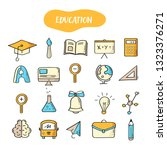 hand drawn line style icons of... | Shutterstock .eps vector #1323376271