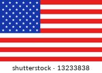 united states of america flag | Shutterstock . vector #13233838