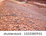 gabion and mattress slope for... | Shutterstock . vector #1323385931