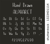 hand drawn font made by ink... | Shutterstock .eps vector #1323401114