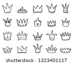 hand drawn set of different... | Shutterstock .eps vector #1323401117