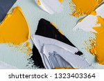 abstract strokes of color oil... | Shutterstock . vector #1323403364