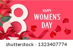 happy womens day. 8 march... | Shutterstock .eps vector #1323407774