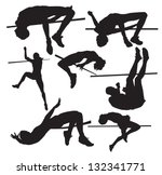 Silhouettes Of Sportsmen Of A...