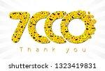 thank you 7 000 followers... | Shutterstock .eps vector #1323419831
