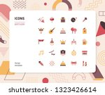 simple color birthday icon set. ... | Shutterstock .eps vector #1323426614