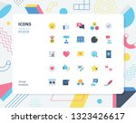 simple color review icon set.... | Shutterstock .eps vector #1323426617