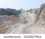 limestone mining in valley  ... | Shutterstock . vector #1323427961