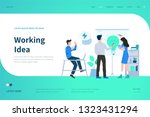 web page design templates for... | Shutterstock .eps vector #1323431294