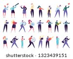 corporate business people... | Shutterstock .eps vector #1323439151