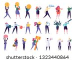 various profession people... | Shutterstock .eps vector #1323440864