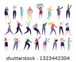 creative business agency people ...   Shutterstock .eps vector #1323442304