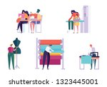 master sewing clothes character ...   Shutterstock .eps vector #1323445001