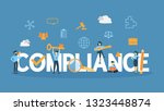 compliance concept illustration.... | Shutterstock . vector #1323448874