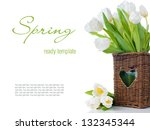 spring bouquet of fresh white...   Shutterstock . vector #132345344