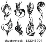 tribal element design | Shutterstock .eps vector #132345704