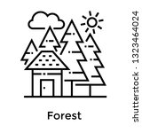 forest line vector icon  | Shutterstock .eps vector #1323464024