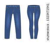 men's and women's dark blue... | Shutterstock .eps vector #1323472541