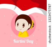 indonesian kartini day... | Shutterstock .eps vector #1323475787