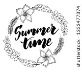summer time vector banner... | Shutterstock .eps vector #1323477374