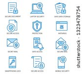 data security flat line icons.... | Shutterstock .eps vector #1323478754