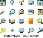 color flat icon set   telescope ... | Shutterstock .eps vector #1323485084