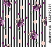 seamless pattern with beautiful ... | Shutterstock .eps vector #1323492584