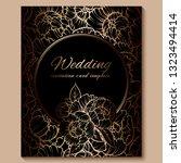 antique royal luxury wedding...   Shutterstock .eps vector #1323494414
