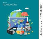 new technologies vector flat... | Shutterstock .eps vector #1323500021