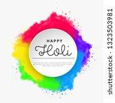 happy holi vector elements for... | Shutterstock .eps vector #1323503981
