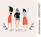 happy women's day. vector... | Shutterstock .eps vector #1323515027