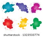vector collection of artistic... | Shutterstock .eps vector #1323533774