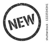 new black round stamp | Shutterstock .eps vector #1323534341