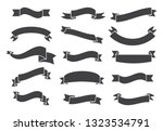 banners and ribbons set... | Shutterstock .eps vector #1323534791