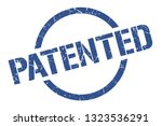 patented blue round stamp | Shutterstock .eps vector #1323536291