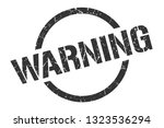 warning black round stamp | Shutterstock .eps vector #1323536294