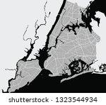 map of ny york city | Shutterstock .eps vector #1323544934