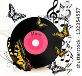 cute conceptual music... | Shutterstock .eps vector #132354557