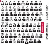 people icons. 80 characters set ...