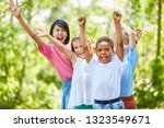 multicultural group of children ... | Shutterstock . vector #1323549671