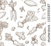 farm product root food sketch... | Shutterstock .eps vector #1323550187