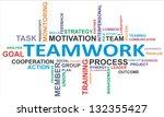 a word cloud of teamwork... | Shutterstock . vector #132355427
