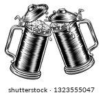 two beer stein german... | Shutterstock .eps vector #1323555047