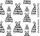hawk moth seamless pattern... | Shutterstock .eps vector #1323556781