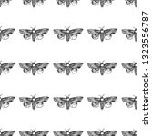 hawk moth seamless pattern... | Shutterstock .eps vector #1323556787