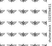 hawk moth seamless pattern... | Shutterstock .eps vector #1323556811