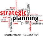 a word cloud of strategic...   Shutterstock . vector #132355754